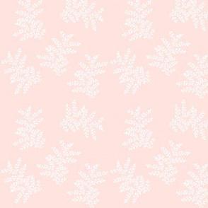 Delicate Fern II Pale Pink Peach