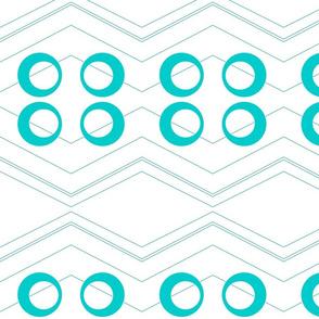 Chevron Circles Turquoise