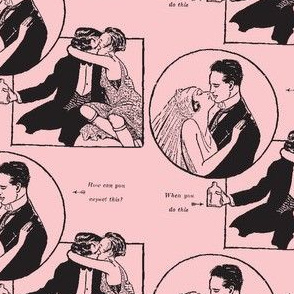 Love and Temperance in pink and black