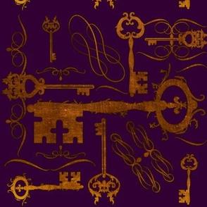Steampunk Keys Purple