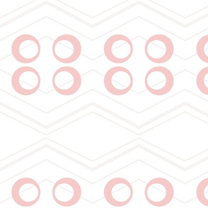 Chevron Circles Rose Quartz