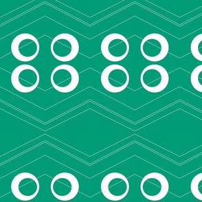 Chevron Circles Emerald
