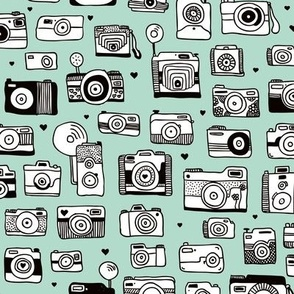 Vintage camera memories cool retro toy camera photagraphy design gender neutral mint
