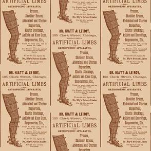 Victorian artificial limbs advertisement