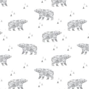 Geometric Bear - Grey