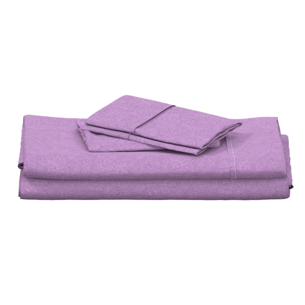 Langshan Full Bed Set featuring extra-large petoskey in lilac and purple by weavingmajor