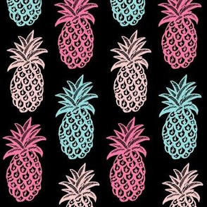 Pineapple (Pink & blue ) tropical
