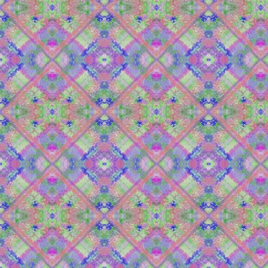 Lavender and Green Rustic Overlapping Tiles