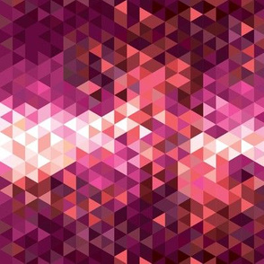 Coral Sunset Small Geometric
