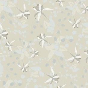 Fuscia  Floral in Cream Light Blue_Miss Chiff Designs