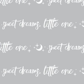 HALFscale Sweet Dreams, Little One, Moon and Stars - white on grey