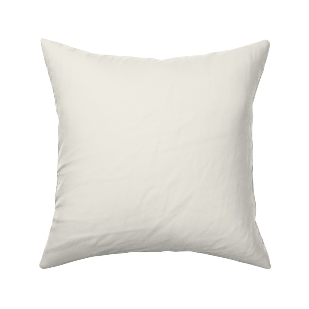 Catalan Throw Pillow featuring Solid Pale Cream by gingezel