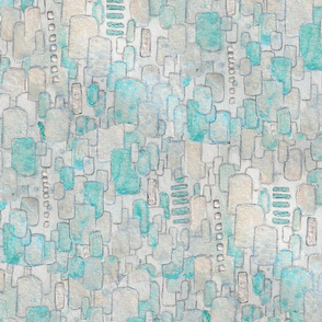 Turquoise White Sequins
