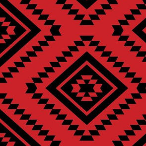 Aztec - Red, Black