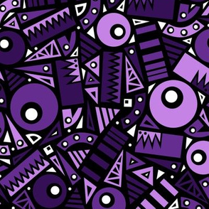 Dancing Shapes (Purple)