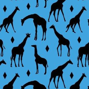 Giraffes on Blue // Small