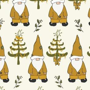 Santa Gnomes - Caramel, Sage