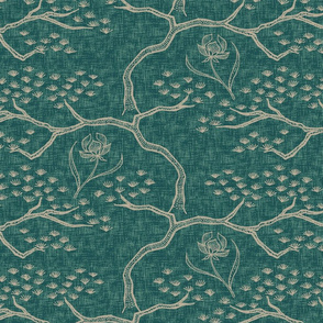 Pines and Orchids - Silver Jade