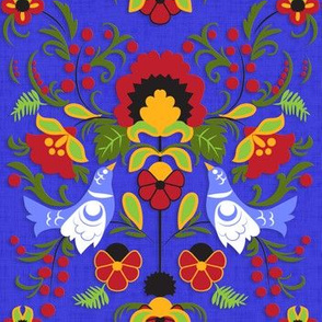 Matriochka Ornament (Cobalt)