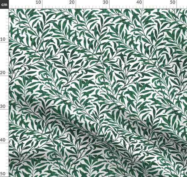 Fabric By The Yard Willow Bough Green William Morris Collection