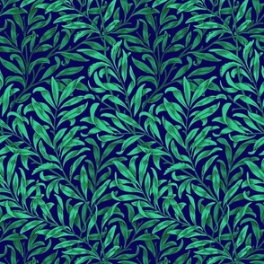 Willow Bough ~  Jungle Night on Admiral ~ The William Morris Collection