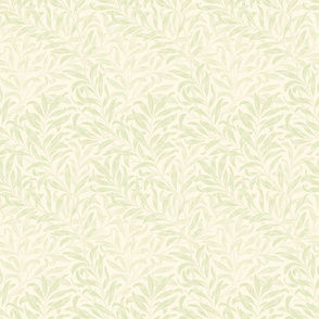 Willow Bough ~  Sheer Admiral on Cosmic Latte ~ The William Morris Collection