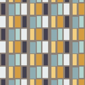 Unbasic Blocks in Greige, Mustard and Teal