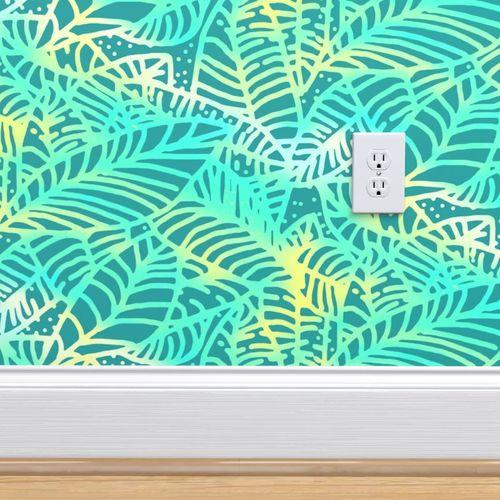 Wallpaper Key West Ocean Leaves 375