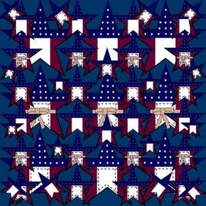 Americana, Patriotic, 4th of July, Red, White & Blue Stars Fabric #2