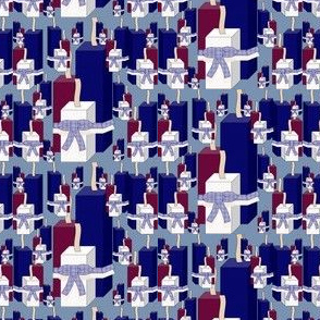 Americana, Patriotic, 4th of July & Firecrackers Red, White & Blue Fabric #4