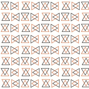 4in Triangular Orange and Black