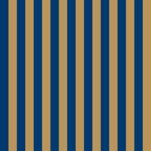 Stripes in Blue and Bronze