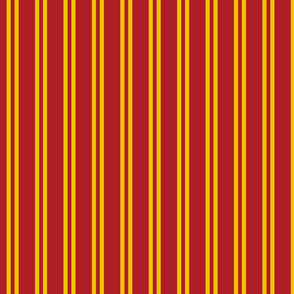 Double Stripes in Red and Golden Yellow