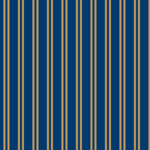Double Stripes in Blue and Bronze