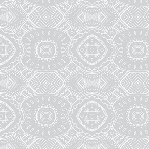 Lace-like Design | White on Gray - horizontal