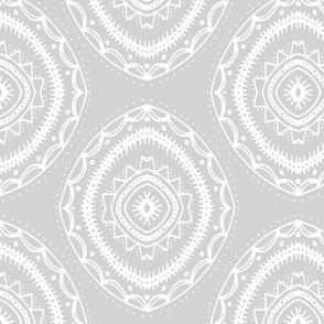 Circles | White on Gray