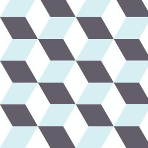Cubes in Blue 3D Optical Illusion