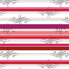 Flourish Rose Stripe