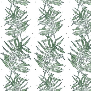 NZ ferns vertical stripe
