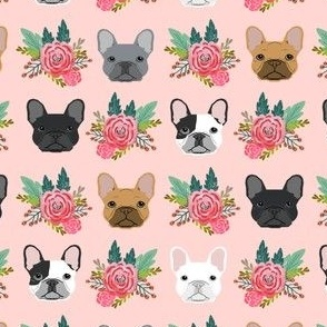 French Bulldog flowers florals frenchies dog girls flowers baby nursery sweet painted flower