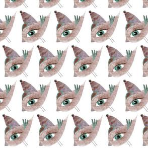 Pink Bird Fabric