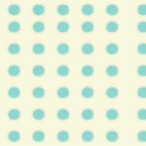 Yellow green polka dots