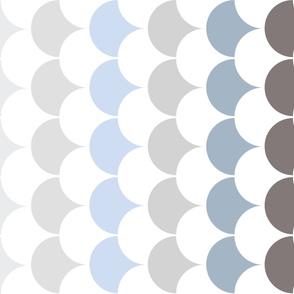 Blue Clam Shell Print