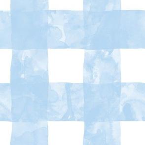 Painted Gingham (Blue Skies)