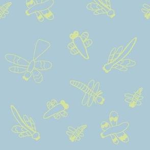 Dragonflies (Light Blue)