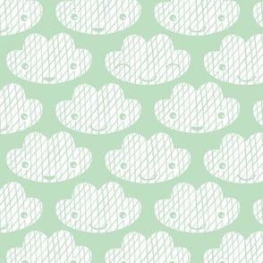 Soft clouds sweet dreams kawaii sparkle sky mint