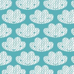 Soft clouds sweet dreams kawaii sparkle sky soft blue