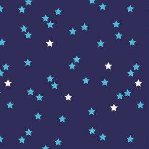 Blue stars good night sweet dreams sparkle navy aqua