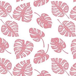 Monstera Leaves - Blush Pink