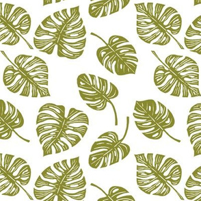 Monstera Leaves - Olive